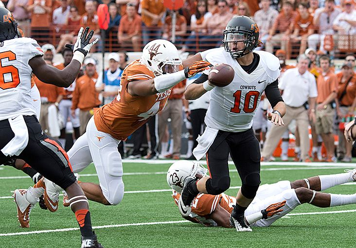 Jackson Jeffcoat (44) Texas football, Oklahoma state