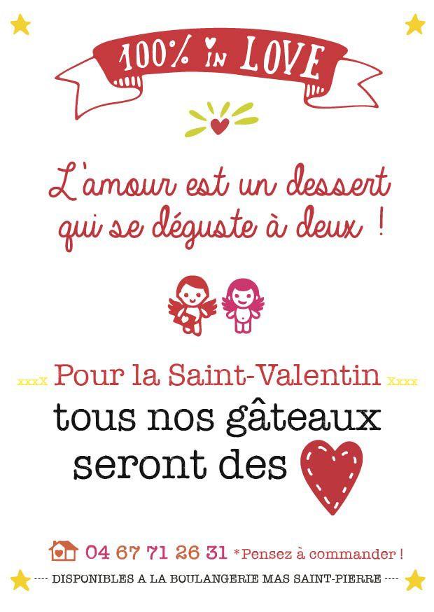 """Pour la Saint-Valentin, déguste en amoureux un gâteau """"cœur"""" - http://www.boulangeriemassaintpierre.fr/saint-valentin-gourmand-2016.php"""