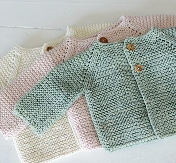 Baby Sweater Knitting Pattern Jumper Basic Baby Cardigan Toddler Sweater 3-6-12-…