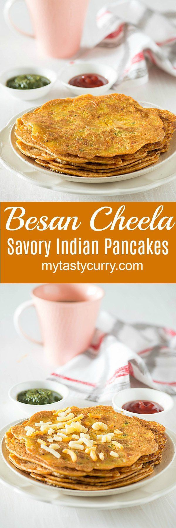 Besan Cheela is tasty and healthy Indian breakfast recipe made with gram flour or chickpeas flour. It is gluten-free, vegan and tasty breakfast option.