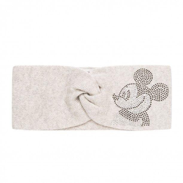 Stirnband mit Strass   Das gestrickte Stirnband aus der CODELLO Disney Kollektion hält mit einem Mix aus Wolle und Kaschmir kuschelig warm und wirkt wie liebevoll handgemacht. Das Mickey Mouse Motiv aus Glitzersteinchen bringt es die richtige Prise Glamour in Ihre Winter-Outfits. Ein perfekter Begleiter für jeden Tag!