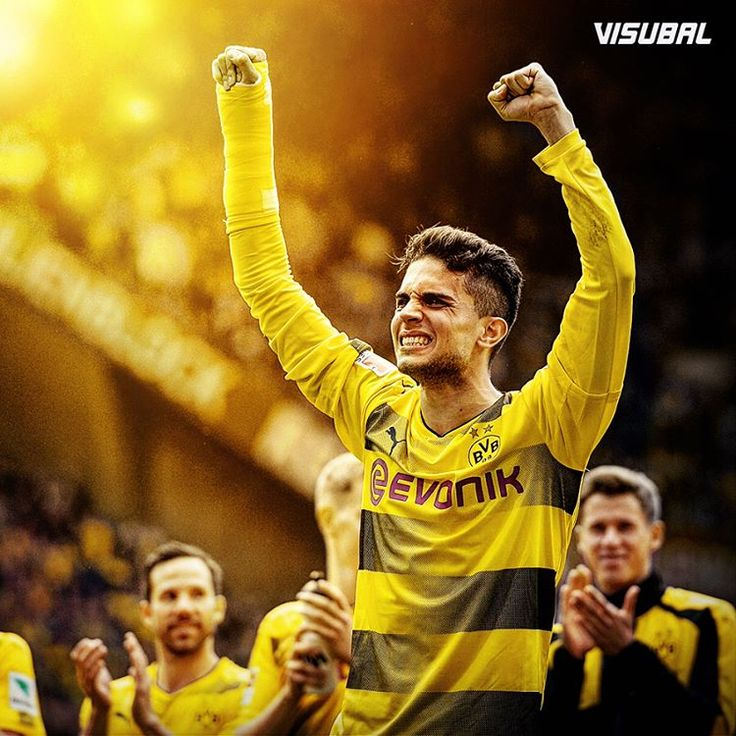 Marc Bartra leads the celebrations in front of the Borussia Dortmund fans after his comeback!  @marcbartra