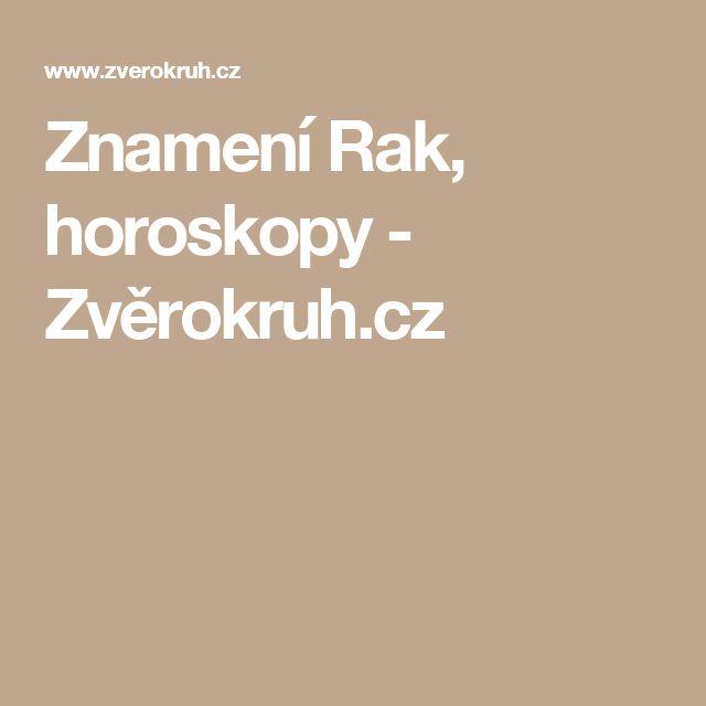 Znamení Rak, horoskopy - Zvěrokruh.cz
