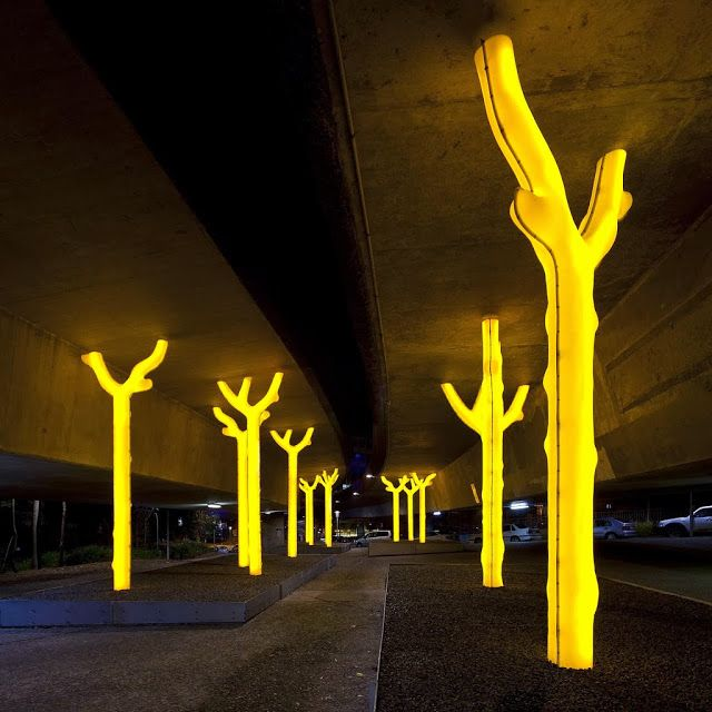 A glowing golden forest of trees called Aspire by artist Warren Langley providing a brighter more engaging and safer public space. & 787 best Lighting images on Pinterest | Architecture Light design ... azcodes.com