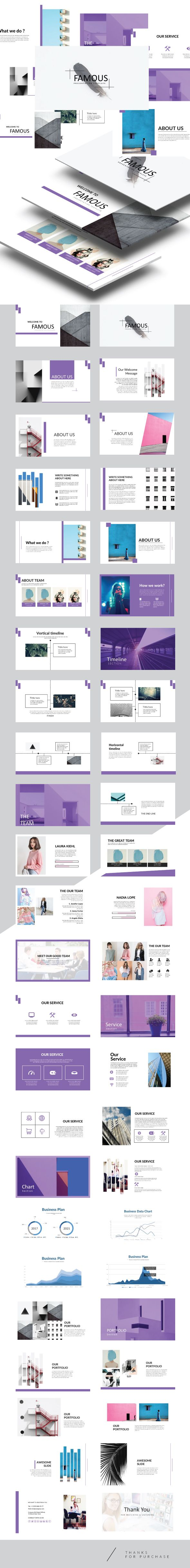 #Famous - Keynote #Presentation Template - Creative #Keynote Templates Download here: https://graphicriver.net/item/famous-keynote-presentation-template/19657820?ref=alena994