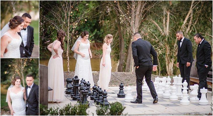 Braeside Chapel Wedding Giant Chess Set