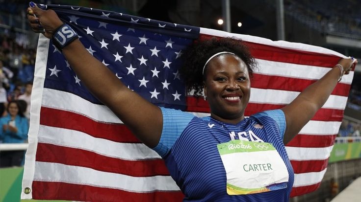 """This Powerhouse, 210-Pound Olympian Wants Women to Know Strong Is Beautiful: """"I love hair, I love makeup, I love fashion, and I love throwing the shot put."""""""