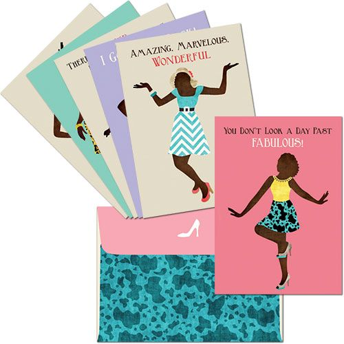 AOAB-660 Deluxe Greeting Cards with Matching Envelopes, by African American Expressions