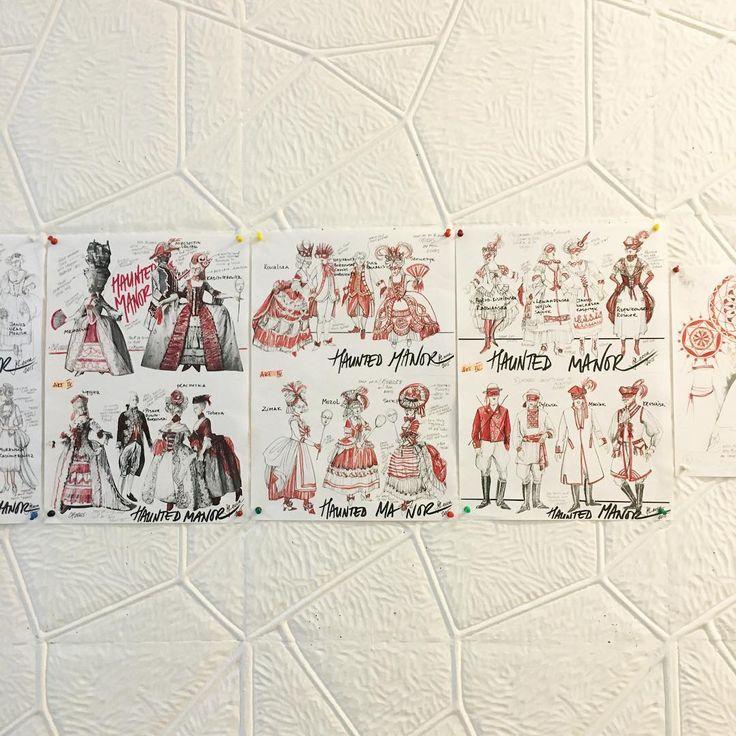 """Projekty kostiumów do """"Strasznego dworu"""" wykonane przez Marie-Jeannne Lecca / Costume designs by Marie-Jeanne Lecca for """"The Haunted Manor"""" #strasznydwór #thehauntedmanor #stanisławmoniuszko #kostiumy #costumes #commingsoon #workinprogress #drawings #opera #operanarodowa #polishnationalopera"""