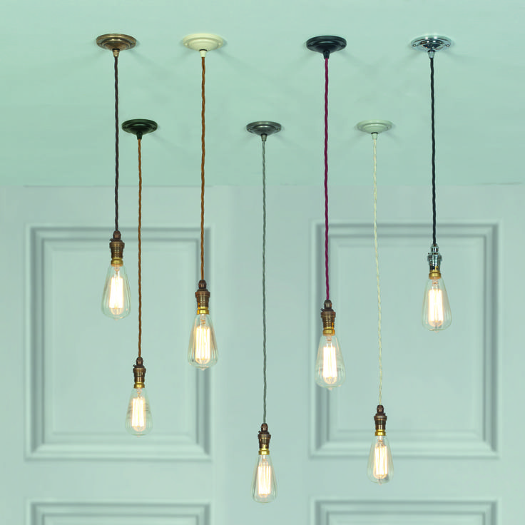 Our #pendant #lampholders are available in a #variety of cable colours and finishes.
