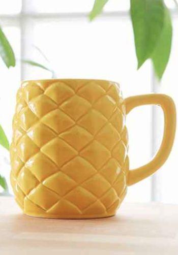cute pineapple coffee mug