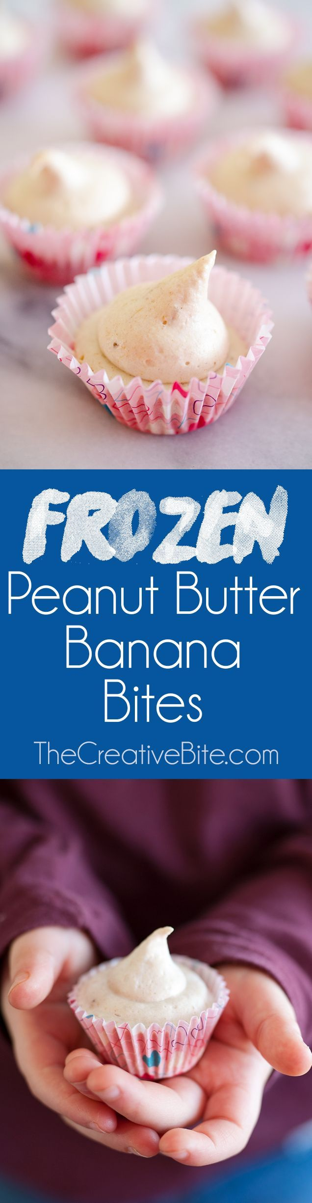 Frozen Peanut Butter Banana Bites are a healthy treat for kids and adults with a light and creamy texture that is sure to satisfy your sweet tooth! #Frozen #Dessert #Banana