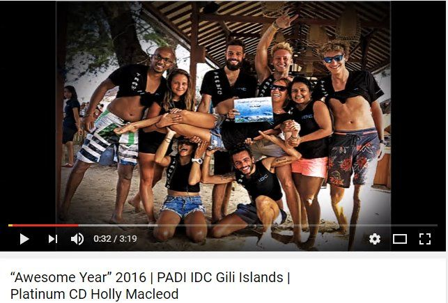 2016 on the PADI Scuba Diving Instructor Development Course (IDC) with Multi Award Winning Triple Platinum PADI Course Director Holly Macleod was amazing and we saw some fantastic professional divers become PADI Scuba Diving Instructors in the Gili Islands, Indonesia #padiidcbali https://www.youtube.com/watch?v=Kjjk6H56b8s