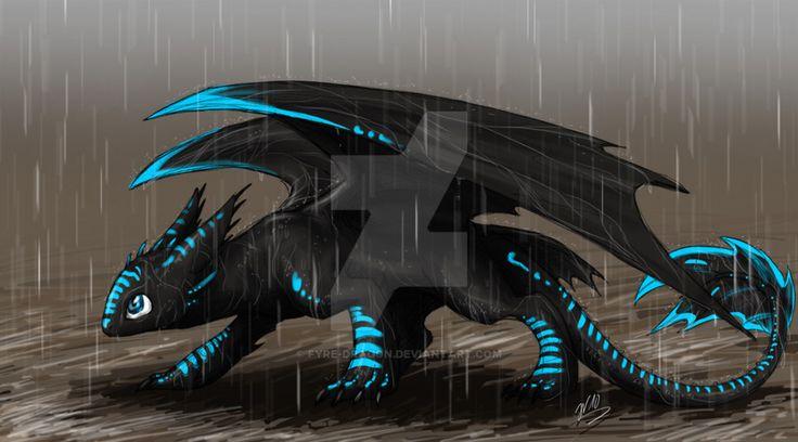 Night Fury in the Rain by Fyre-Dragon on @DeviantArt