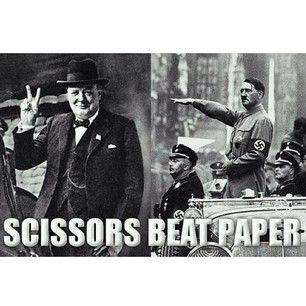 This game of rock, paper, scissors: | 22 Things Only History Nerds Will Find Funny