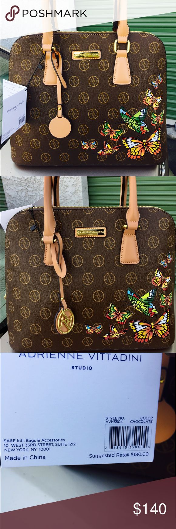 "Adrienne vittadini dome satchel bag Adrienne vittadini dome satchel bag . Two drop straps. Zipper closure. Dimensions are 13""X11""x5.5"" Adrienne Vittadini Bags Satchels"