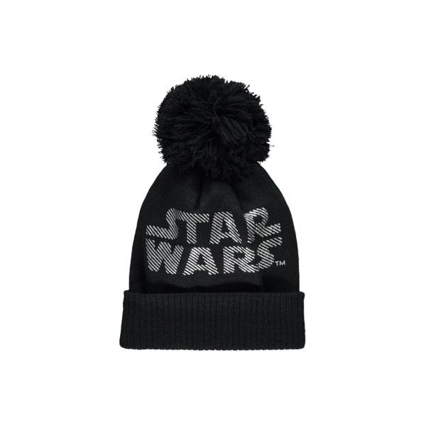 Bobble Star Wars Bobble Hat ($9.46) ❤ liked on Polyvore featuring men's fashion, men's accessories, men's hats, black, mens bobble hats and mens pom pom hat