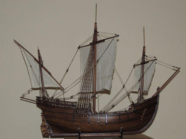Maqueta acabada de La Pinta, por Eric Durieux // La Pinta Model Ship, by Eric Durieux