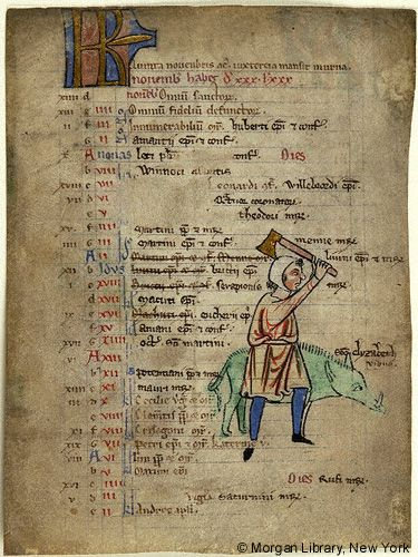 Church Calendar leaves, MS M.908.5 fol. 1v - Images from Medieval and Renaissance Manuscripts - The Morgan Library & Museum