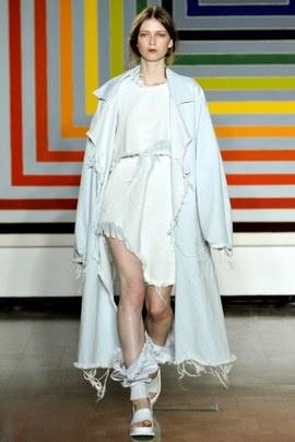Marques Almeida: Denim Trench, 2012 Ready To Wear, S2012Rtw Fashion, Ready To Wear Collection, Fashion East, Fashion Runway, Fray Denim, Marquesalmeida 2012, Marque Almeida 2012