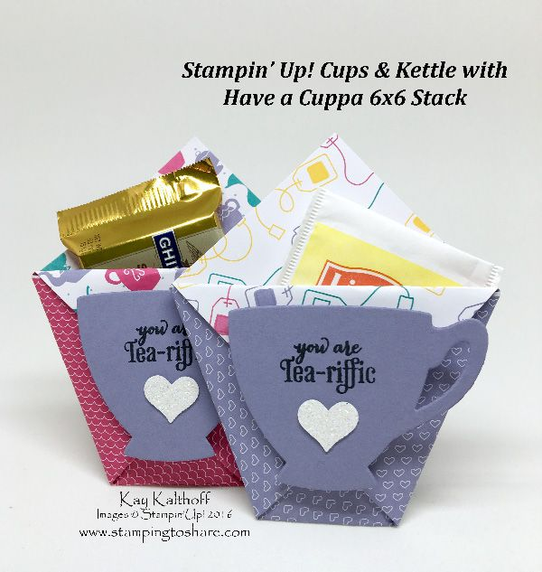 Fast, Easy and Super CUTE Party Favors with 6x6 Stampin' Up! Paper - Video Included!!!, A Nice Cuppa Bundle, Diaper Fold, Treat Holder, #stampingtoshare