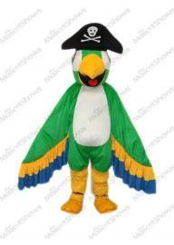 Costume de Mascotte de perroquet vert