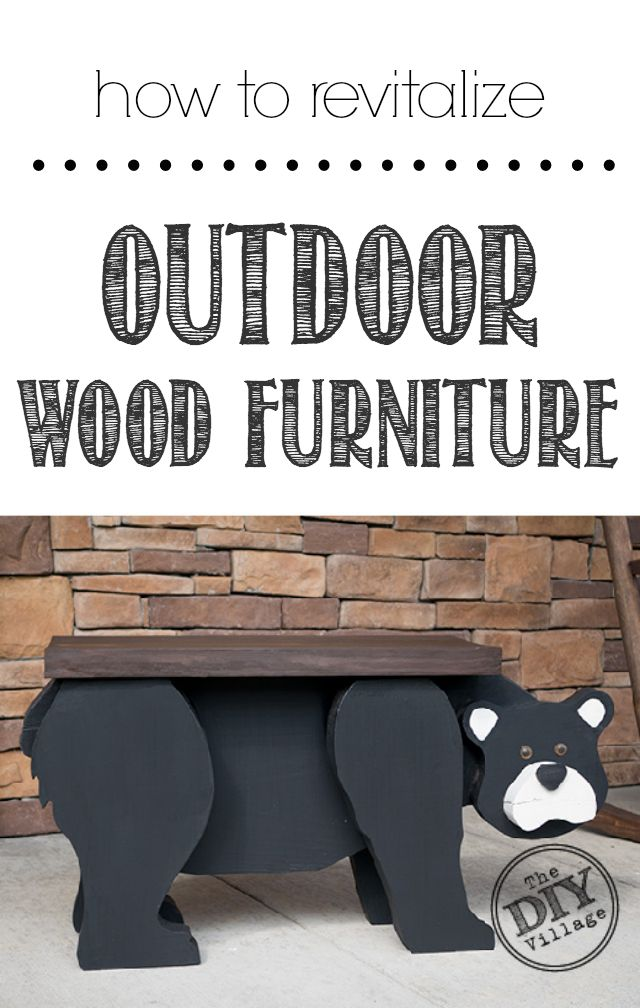 How To Revitalize Outdoor Wood Furniture