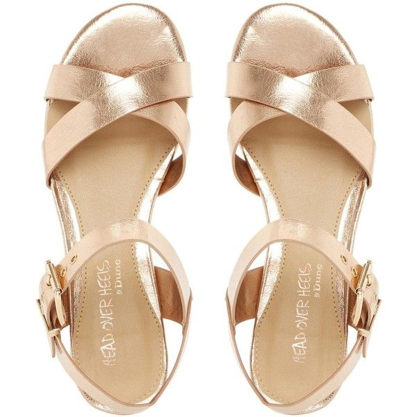 1000  images about gold block heels on Pinterest | Heeled sandals ...