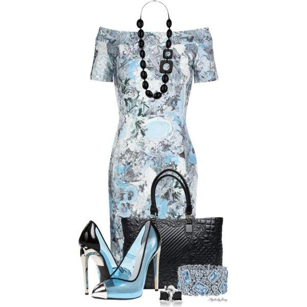 Giuseppe Zanotti Black n' Blue by stylesbyjoey on Polyvore featuring Erdem, Giuseppe Zanotti, Versace, Wallis, Reeds Jewelers and Robert Procop