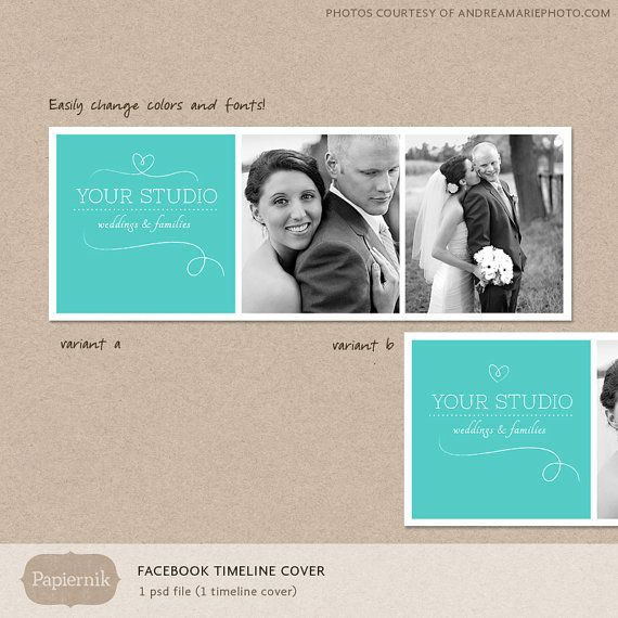 Facebook timeline cover template chevron photos by OtoStudio, $7.00