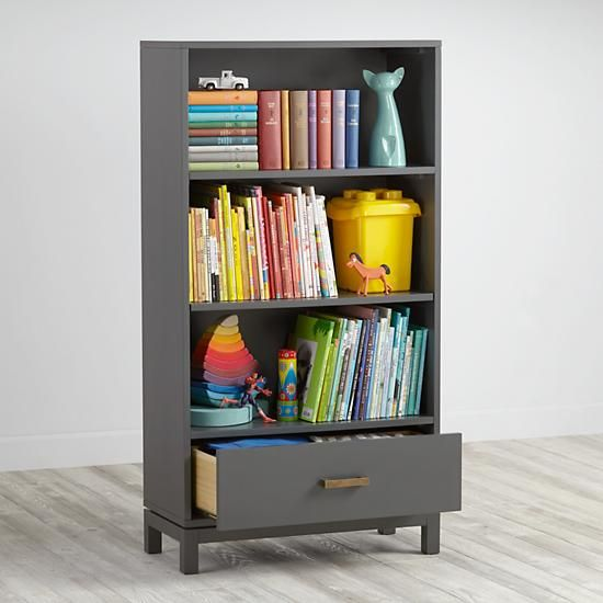Cargo Bookcase (Charcoal)  | The Land of Nod