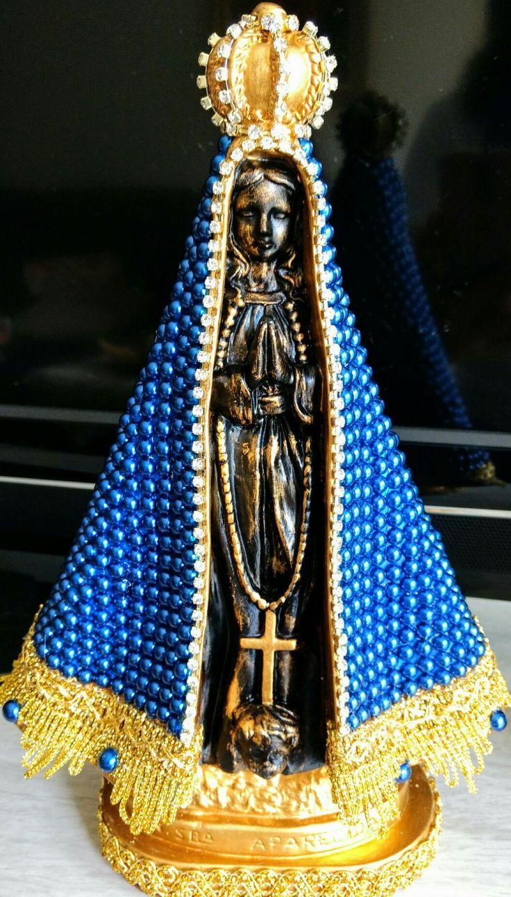 Nossa Senhora Aparecida com manto azul
