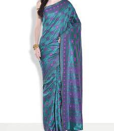 Buy Bottle green hand_woven handloom saree with blouse handloom-saree online