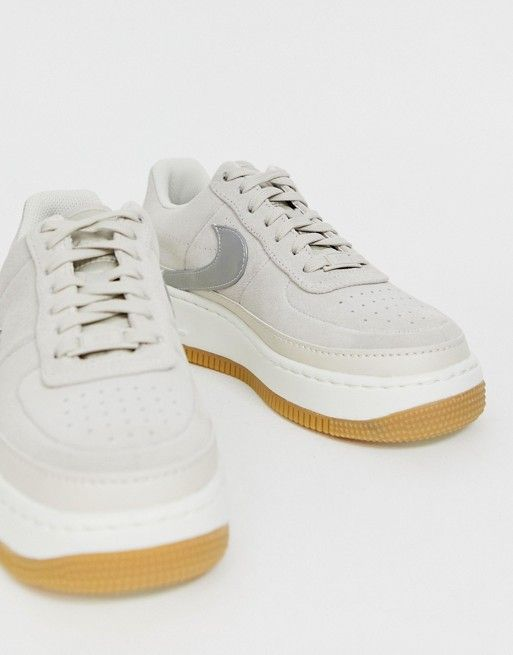 size 40 e7021 bb8a2 Nike Sand Air Force 1 Jester Sneakers