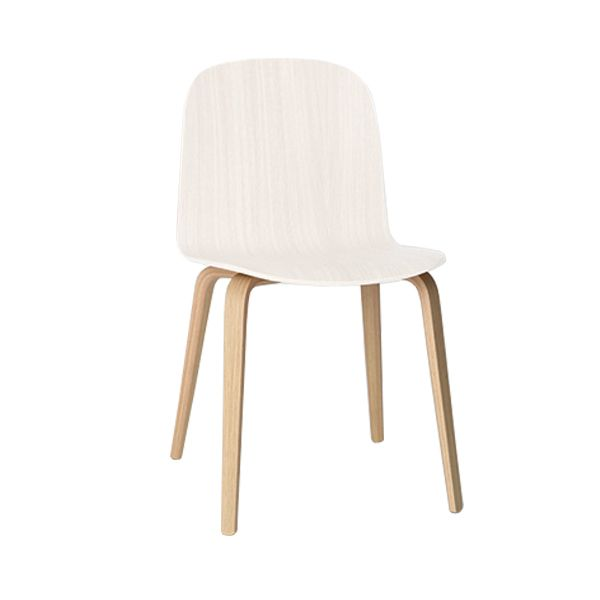 Visu tuoli, puujalusta, valkoinen-luonnonv�ri