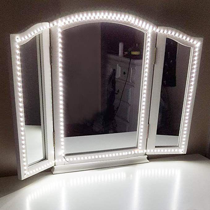 Diy Vanity Mirror With Led Lights Bathroom Small Simple