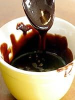 Hot fudge sauce is something I just can't get enough of. When I was little and my grandparents would take me to McDonald's I would ask for a hot fudge sundae with fudge layered under the ice cream as well as on top. But you don't need to buy fudge sauce in a jar or from McDonald's; it's quite easy to make, and free here of added colors and preservatives. This is real hot fudge sauce - thick, dark, and not too sweet. It has just a slight graininess that feels and tastes like old-fashioned…