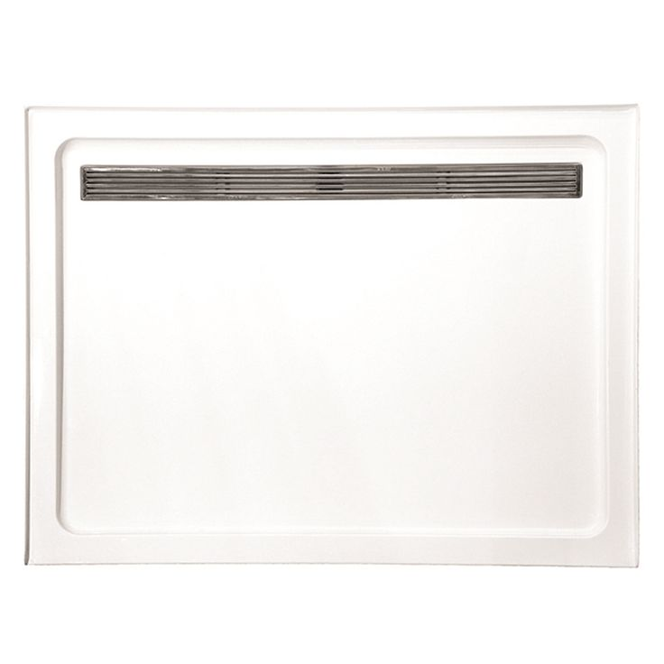 Find Rick McLeanu0027s Designer Bathware 1200 X 900mm White Modern Acrylic Shower  Base With Stainless Steel