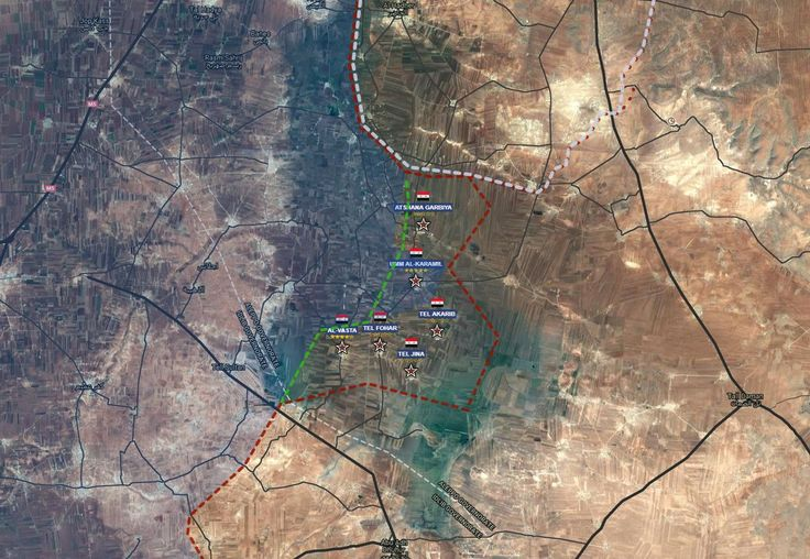Securing the railway to Aleppo city.