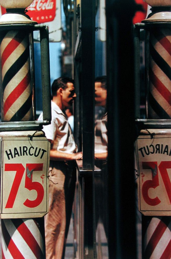 Saul Leiter: Haircut, 1956