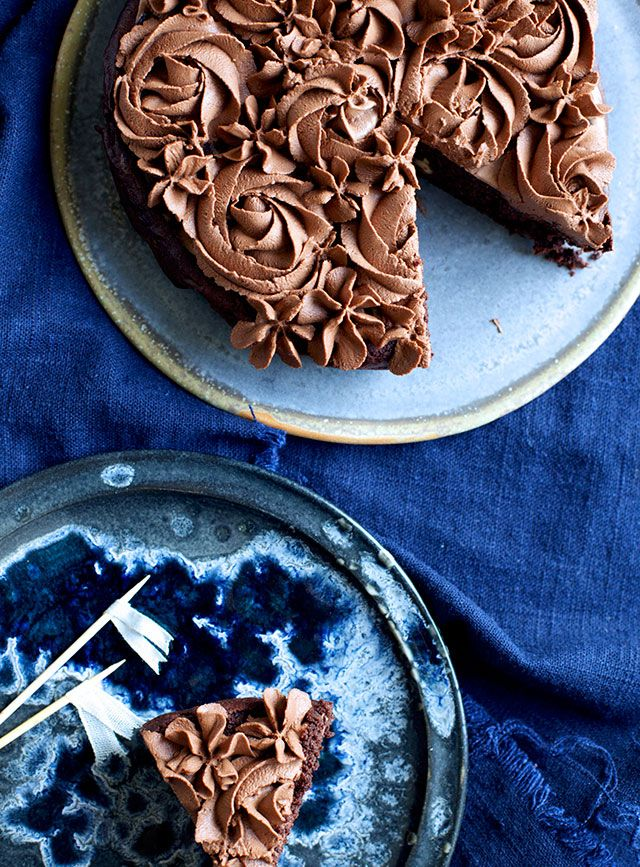 Chokoladebrownie med frosting - The Food Club