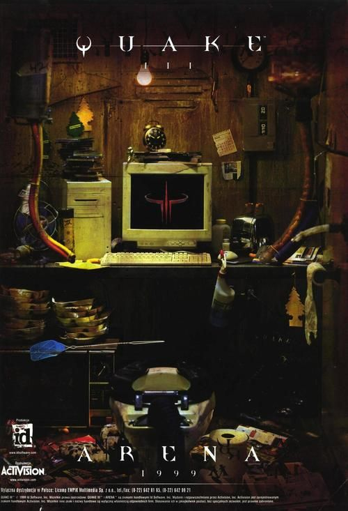 Quake III: Arena advert Wow! I remember this advert just like it was yesterday. Before the Half Life universe and Battlefields came into play. We were all camping the ceiling with a loaded railgun! Bam1 Game On! -SixaraTM