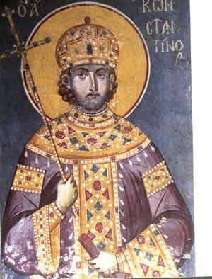 Άγιος Κωνσταντίνος ο Μέγας,Εμμανουήλ Πανσέληνος,14ος αιώνας.