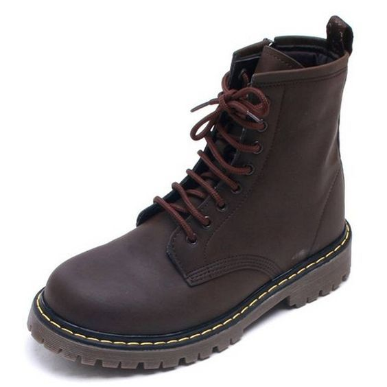 EpicStep Women's Caterpillar Shoes Casual Combat Leather Zip Lace Up Army Military Ankle Boots ** Want to know more, click on the image.