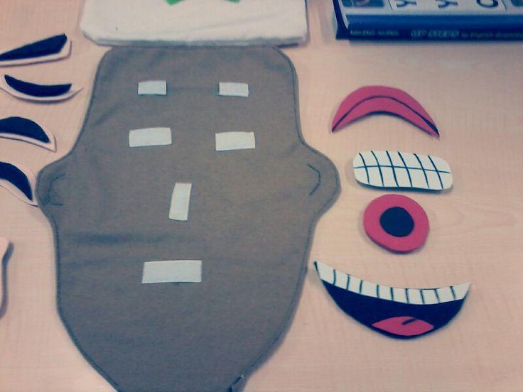 Çocukların yüz ifadelerini öğrenmeleri için bir eğitici oyuncak :))