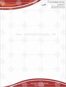 Green theme letterhead template Preview RED