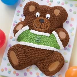 Teddy Bear Cake - Kyra with orange shirt