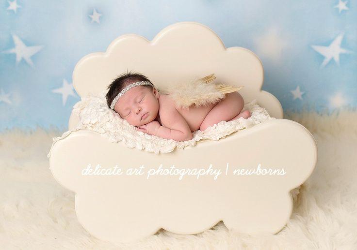 Tan Glitter Feather Wings Newborn Baby Photo Prop | Beautiful Photo Props