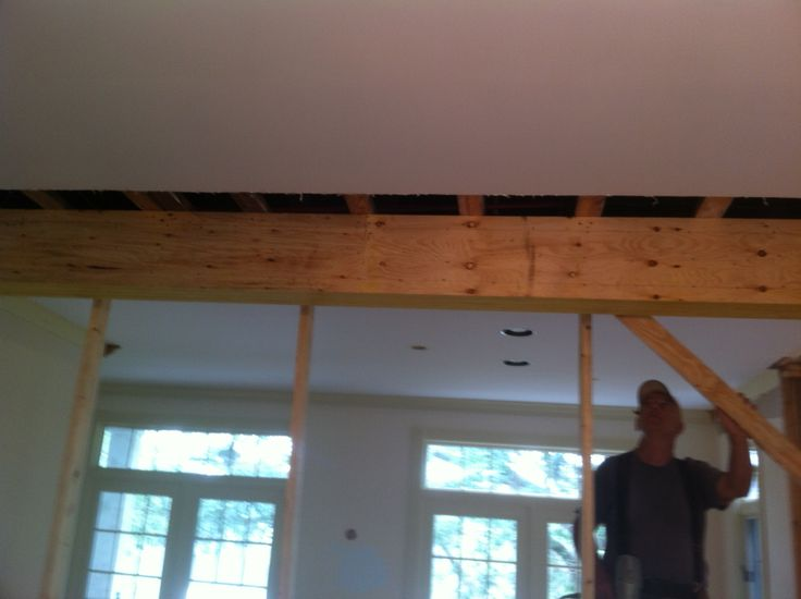 New Beam To Replace Load Bearing Wall Replaces Pantry Wall