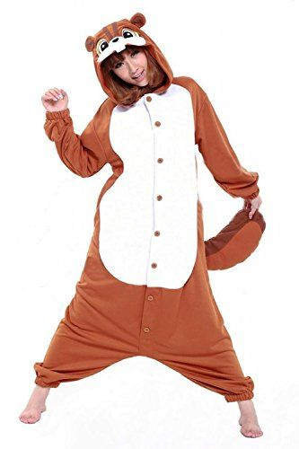 Damen Herren Unisex Adult Erwachsene Eichhörnchen Animal Anime Tier Weihnachten Halloween Fasching Carnival Kigurumi Cosplay Overall Pajamas Pyjamas Schlafanzug Kostüme Jumpsuit kleid Kleidung Belisyr http://www.amazon.de/dp/B016PYXMEU/ref=cm_sw_r_pi_dp_jc8Owb1CHYNBH